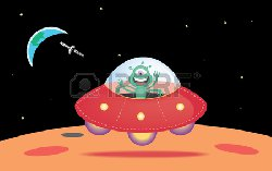 NASA сумело заснять посадку НЛО на «Красной планете»